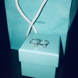 Tiffany&Co. Solitaire Platinum Ring VS1 H .45Ct💍